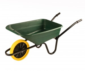 Walsall Green Wheelbarrow In A Box 90 Litre with Puncture Proof Wheel