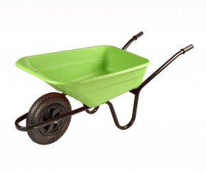 Walsall Lime Green Wheelbarrow In A Box 90 Litre with Pneumatic Wheel