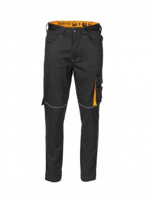 Worktough Core Stretch Work Trousers Tapered Fit Black (Various Sizes)