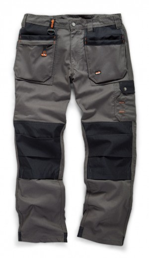Scruffs WORKER PLUS Graphite Grey Work Trousers with Holster Pockets (All Sizes) Trade Hardwearing