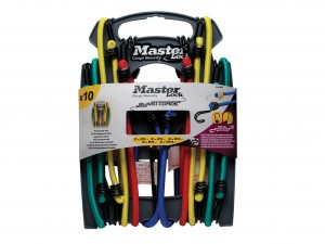 Master Lock Assorted Bungee Cords/Straps Pack Of 10