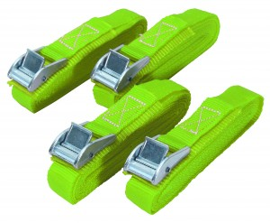 Faithfull Cam Buckle Tie Down Strap 5m x 25mm Pack of 4