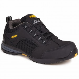 Apache AP318SM Safety Work Trainer Shoes Black (Sizes 6-12)