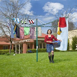 Hills Rotary Folding 7 Washing Line Clothesline (Green or Blue)