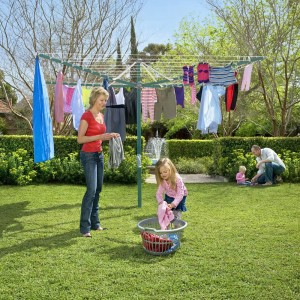 Hills Rotary Folding 8 Washing Line Clothesline (Green or Blue)