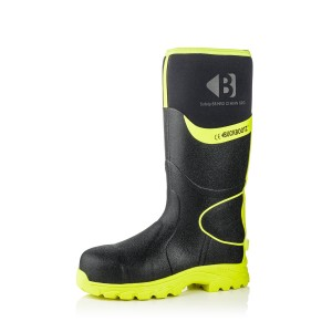 Buckler BBZ8000 Waterproof Safety Wellington Boots Black & Yellow (Sizes 3-13)