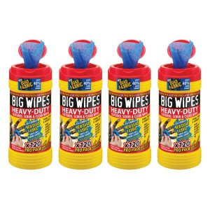 Big Wipes 4x4 Heavy Duty Cleaning Wipes Pack of 4
