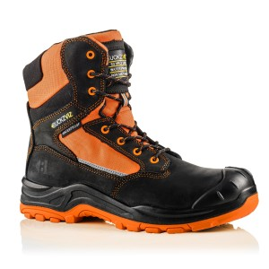 Buckler BUCKZVIZ High Leg Waterproof Hi-Vis Safety Work Boots Orange (Sizes 6 - 13)