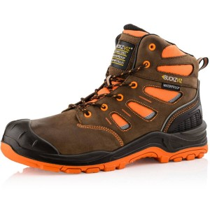 Buckler BUCKZVIZ Lace Safety Work Boots Orange/Brown (Sizes 6-13)