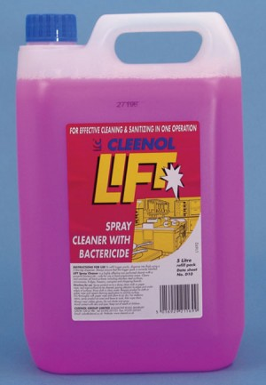 Cleenol Lift Spray Cleaner with Bactericide (Various Sizes)