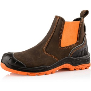 Buckler BUCKZVIZ Dealer Safety Work Boots Orange/Brown (Sizes 6-13)