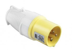 Defender 16amp Industrial Plugs Yellow 110v Pack of 10