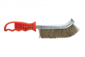 Defiance Curved Wire Brush with Safety Tip