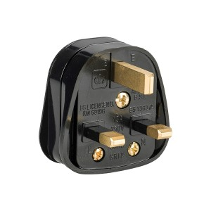 Defender 13amp Black Rubberised Nylon Plug 230v Box Of 10
