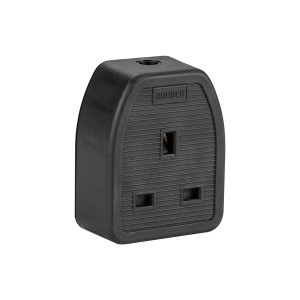 Defender 13amp 1-Gang Black Rubber Sockets 230v Box of 10
