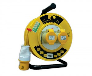 Elite Extension Cable Reel 25mtr Heavy Duty 110v (1.5 or 2.5mm cable options)