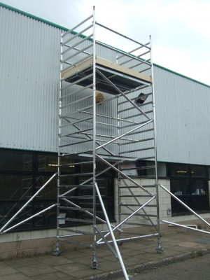 Euro 232 3T Alloy Scaffold Tower - D/W x 2.5m Length (various heights)
