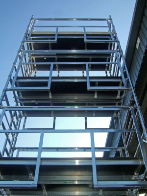 Euro Advanced Guardrail (AGR) Alloy Scaffold Tower - D/W x 2m Length (various heights)