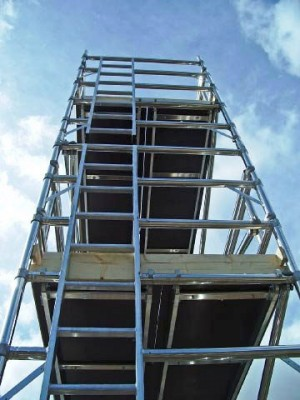 Euro Ladder Frame 3T Alloy Scaffold Tower - D/W x 2m Length (various heights)