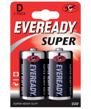 Eveready Super Heavy Duty D Batteries (Pack of 2)