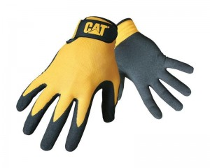 Caterpillar Nitrile Coated Safety Gloves Yellow/Black (M-XL)