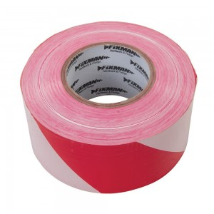 Fixman Barrier Tape 70mm x 500 Metres Red/White