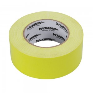 Fixman Heavy Duty Duct Tape Hi-Vis Yellow 50mm x 50 Metres