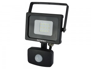 Faithfull 10w SMD LED Wall Mounted Security Floodlight With PIR 240v