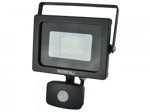 Faithfull 20w SMD LED Wall Mounted Security Floodlight With PIR 240v