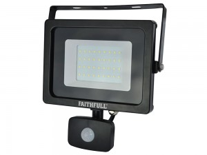 Faithfull 30w SMD LED Wall Mounted Security Floodlight With PIR 240v