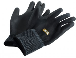 JCB PU Coated Work Gloves Black Pack of 10