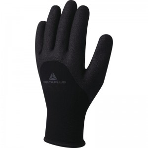 Delta Plus HERCULE VV750 Safety Gloves Black Nitrile Foam Lined (Various Sizes)