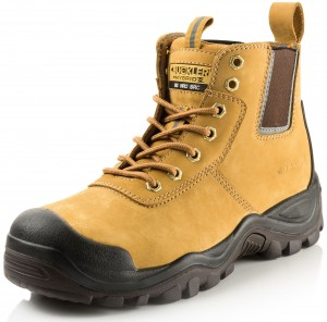 Buckler BHYB2HY Anti-Scuff Safety Work Boots Tan Honey (Sizes 6-13)