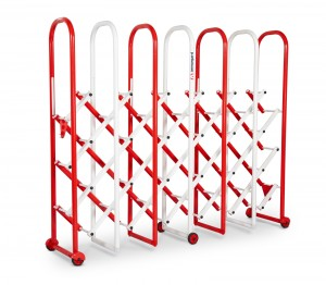 Armorgard InstaGate Concertina Expandable Safety Barrier Red & White 2380x542x1884mm