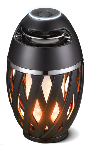 Luceco LED Wireless Rechargeable Flame Light With Bluetooth Speaker