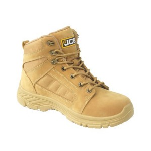 JCB LOADALL Safety Work Boots Tan Honey (Sizes 2-12)