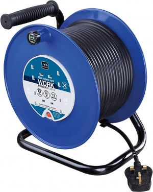 Masterplug Open Drum 40mtr Cable Extension Reel 240v/13a