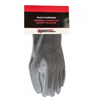 Mad4Tools Safety Work Gloves Multi-Purpose Grey High-Tech PU