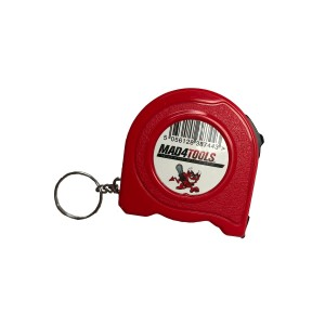 Mad4Tools Tape Measure 2m with Belt Clip & Key Ring