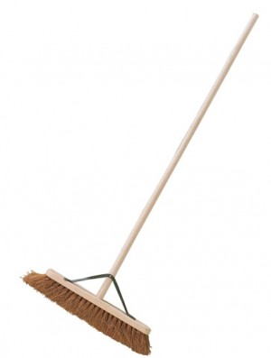Natural Coco Platform Broom Brush c/w Stayed Handle (Various Sizes)