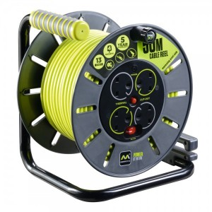 Masterplug Large Open Cable Reel 50M - 240v
