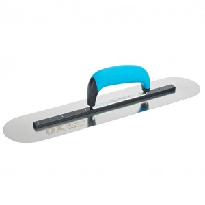 OX Pro Heavy Duty Pool Finishing Trowel Rigid Stainless Steel Blade with Duragrip Handle - 450mm