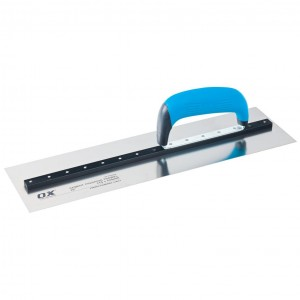 OX Pro Heavy Duty Cement Finishing Trowel Stainless Steel Blade with Duragrip Handle (350 or 400mm)