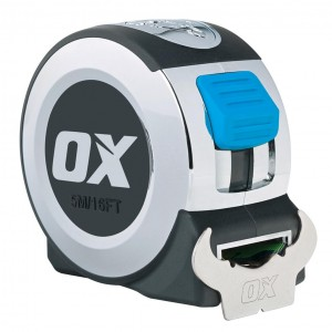 OX Pro Tape Measure Chrome Wide Blade (5m or 8m)
