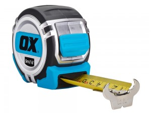 OX Pro Tape Measure Metric/Imperial - 5 Metre
