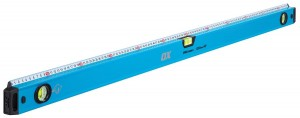 OX Pro Spirit Level with Integrated Steel Rule - 1200mm