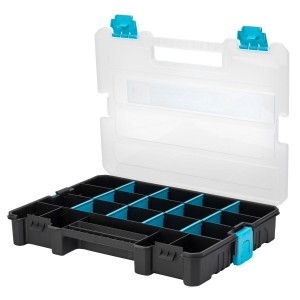 OX Pro Clear Compartment Organiser Toolbox