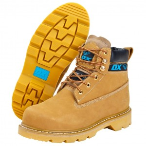 OX Nubuck Safety Work Boots Tan Honey (Sizes 6-13)