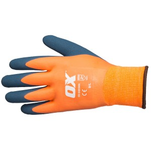 OX Waterproof Thermal Latex Safety Gloves (L - XL)