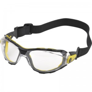 Delta Plus PACAYA Safety Specs / Glasses Clear with Single Lens & Elastic Strap